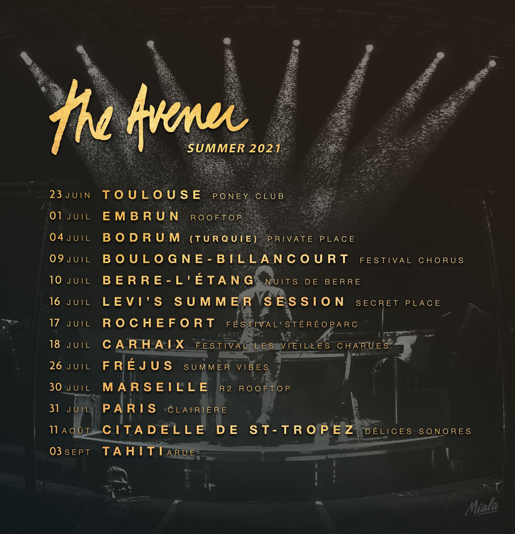 The Avener - SUMMER TOUR 2021